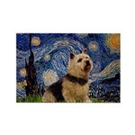Starry /Norwich Terrier Rectangle Magnet