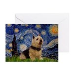 Starry /Norwich Terrier Greeting Cards (Pk of 20)