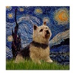 Starry /Norwich Terrier Tile Coaster