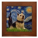 Starry /Norwich Terrier Framed Tile