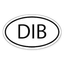 DIB Oval Decal