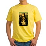 Mona Lisa / PBGV Yellow T-Shirt