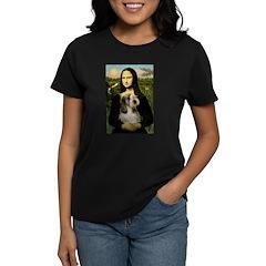 Mona Lisa / PBGV Women's Dark T-Shirt