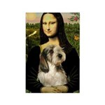 Mona Lisa / PBGV Rectangle Magnet