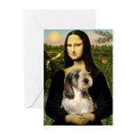 Mona Lisa / PBGV Greeting Cards (Pk of 10)