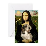 Mona Lisa / PBGV Greeting Card