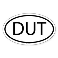 DUT Oval Decal