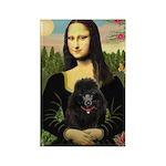Mona / Poodle (bl) Rectangle Magnet