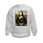 Mona / Poodle (bl) Kids Sweatshirt