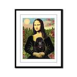 Mona / Poodle (bl) Framed Panel Print