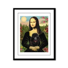 Mona / Poodle (bl) Framed Panel Print