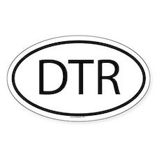 DTR Oval Bumper Stickers