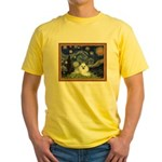 Starry Night / Poodle(w) Yellow T-Shirt