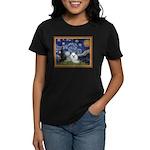 Starry Night / Poodle(w) Women's Dark T-Shirt
