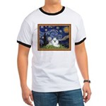 Starry Night / Poodle(w) Ringer T