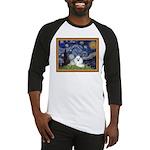 Starry Night / Poodle(w) Baseball Jersey