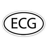 ECG Oval Decal