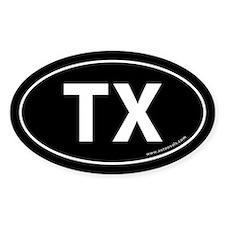 Texas TX Auto Sticker -Black (Oval)