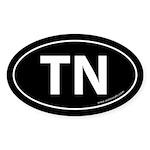 Tennessee TN Auto Sticker -Black (Oval)