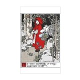 Webb's Little Red Riding Hood Sticker (Rectangular