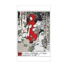 Webb's Little Red Riding Hood Sticker (Rectangular