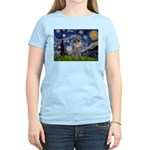 Starry Night / Poodle (s) Women's Light T-Shirt