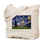 Starry Night / Poodle (s) Tote Bag