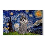 Starry Night / Poodle (s) Sticker (Rectangle)