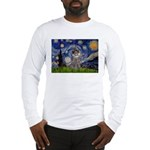 Starry Night / Poodle (s) Long Sleeve T-Shirt