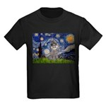 Starry Night / Poodle (s) Kids Dark T-Shirt