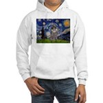 Starry Night / Poodle (s) Hooded Sweatshirt