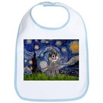 Starry Night / Poodle (s) Bib