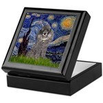 Starry Night / Poodle (s) Keepsake Box