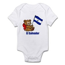 El Salvador Teddy Bear Infant Bodysuit