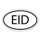 EID Oval Decal