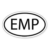 EMP Oval Decal