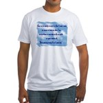 Serenity Slogan (clouds) Fitted T-Shirt