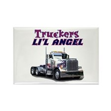 Truckers Li'l Angel Rectangle Magnet (10 pack)