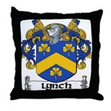 Lynch Coat of Arms Throw Pillow