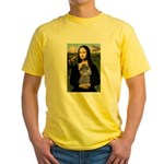 Mona / Poodle (s) Yellow T-Shirt