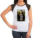 Mona / Poodle (s) Women's Cap Sleeve T-Shirt