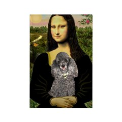 Mona / Poodle (s) Rectangle Magnet