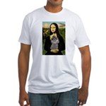 Mona / Poodle (s) Fitted T-Shirt
