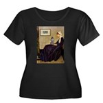 Whistler's / Poodle(s) Women's Plus Size Scoop Nec