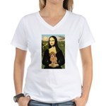 Mona / Poodle (a) Women's V-Neck T-Shirt