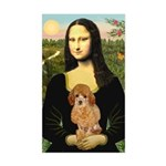 Mona / Poodle (a) Sticker (Rectangle)