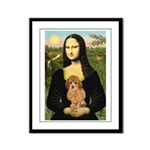 Mona / Poodle (a) Framed Panel Print