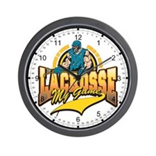 Lacrosse My Game Wall Clock