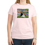 Lilies / 3 Poodles Women's Light T-Shirt