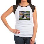 Lilies / 3 Poodles Women's Cap Sleeve T-Shirt